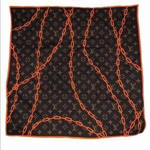 Louis Vuitton Virgil Abloh chains bandanna scarf